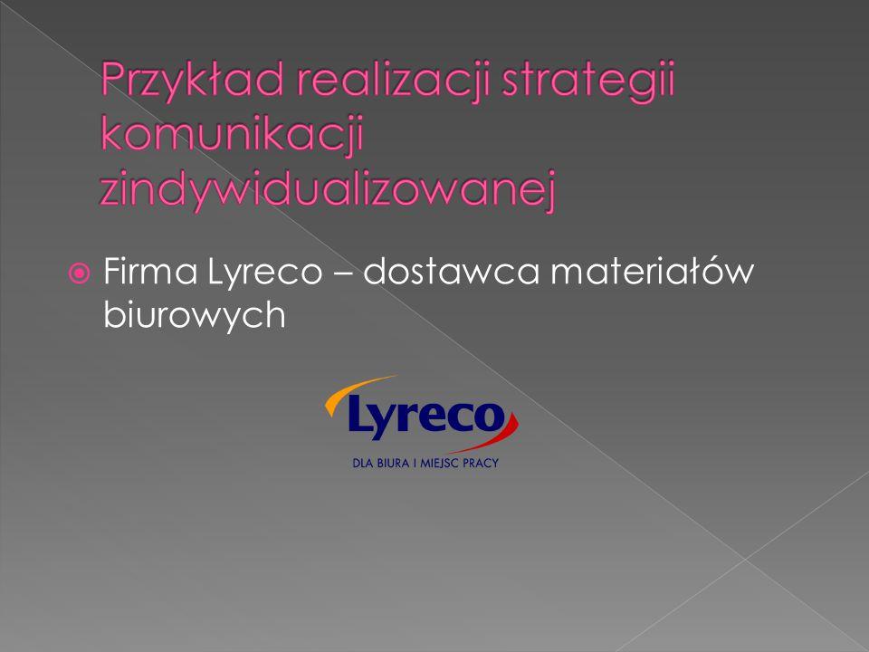  Firma Lyreco – dostawca materiałów biurowych