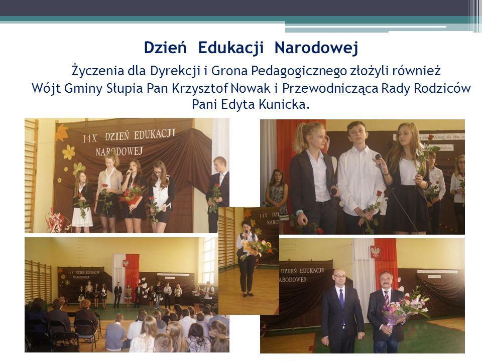 Dzień Edukacji Narodowej Życzenia dla Dyrekcji i Grona Pedagogicznego złożyli również Wójt Gminy Słupia Pan Krzysztof Nowak i Przewodnicząca Rady Rodz