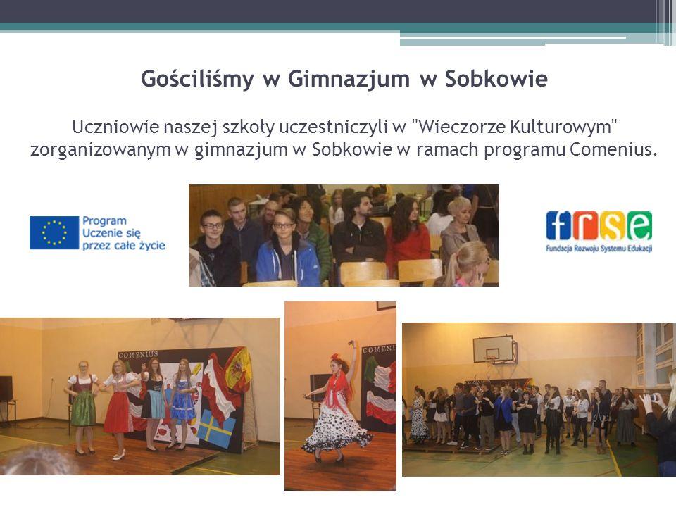 Gościliśmy w Gimnazjum w Sobkowie Uczniowie naszej szkoły uczestniczyli w