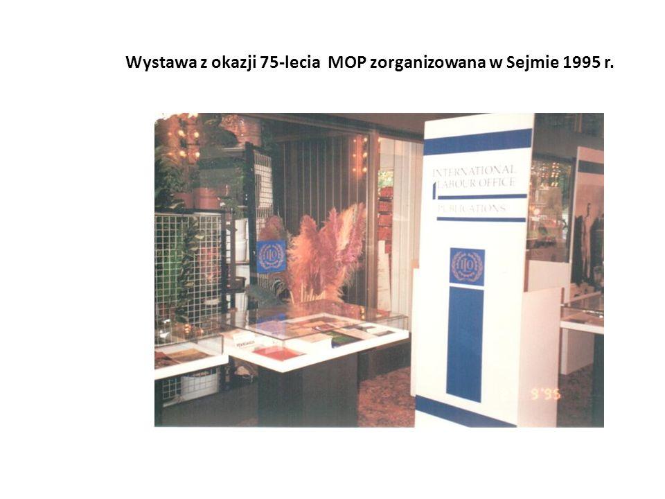 Wystawa z okazji 75-lecia MOP zorganizowana w Sejmie 1995 r.