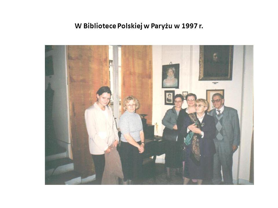 W Bibliotece Polskiej w Paryżu w 1997 r.