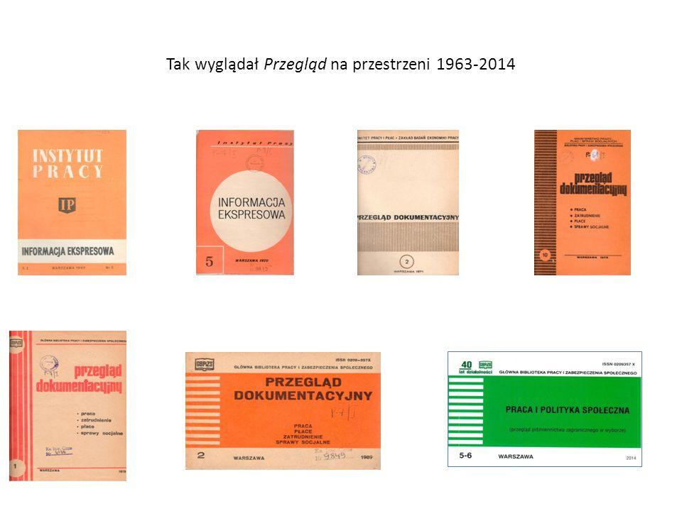 Tak wyglądał Przegląd na przestrzeni 1963-2014