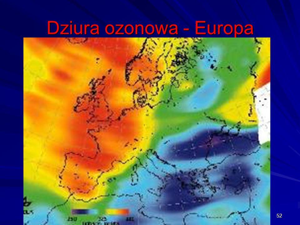 Dziura ozonowa - Europa 52