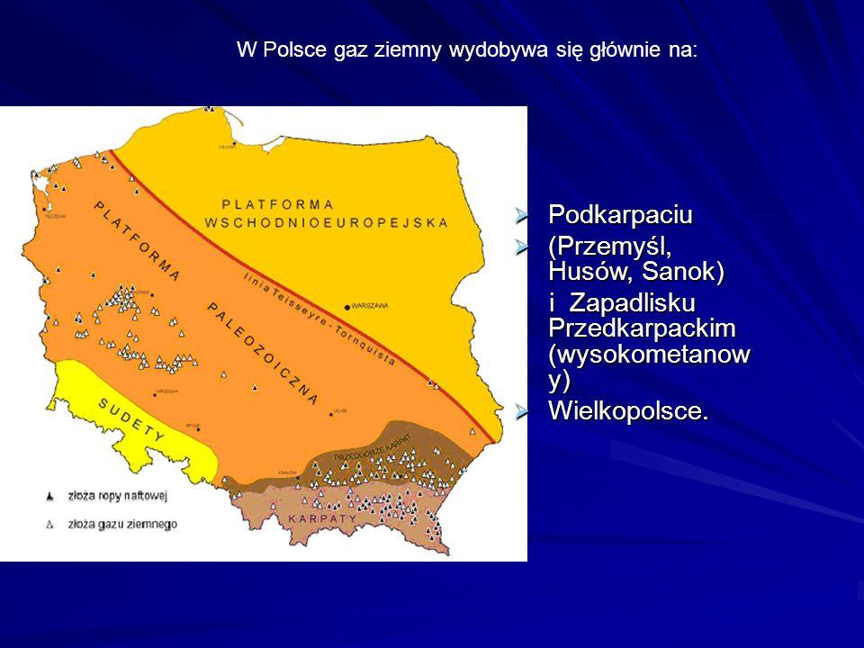  Podkarpaciu  (Przemyśl, Husów, Sanok) i Zapadlisku Przedkarpackim (wysokometanow y) i Zapadlisku Przedkarpackim (wysokometanow y)  Wielkopolsce. W
