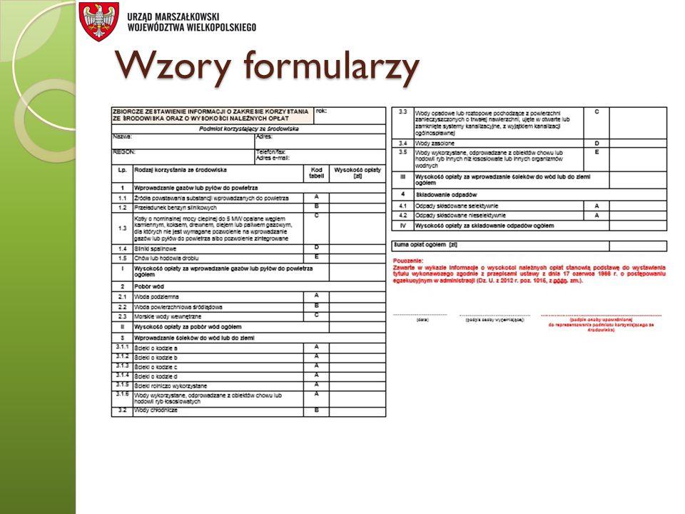 Wzory formularzy
