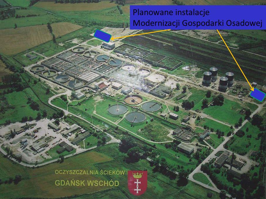 Planowane instalacje Modernizacji Gospodarki Osadowej