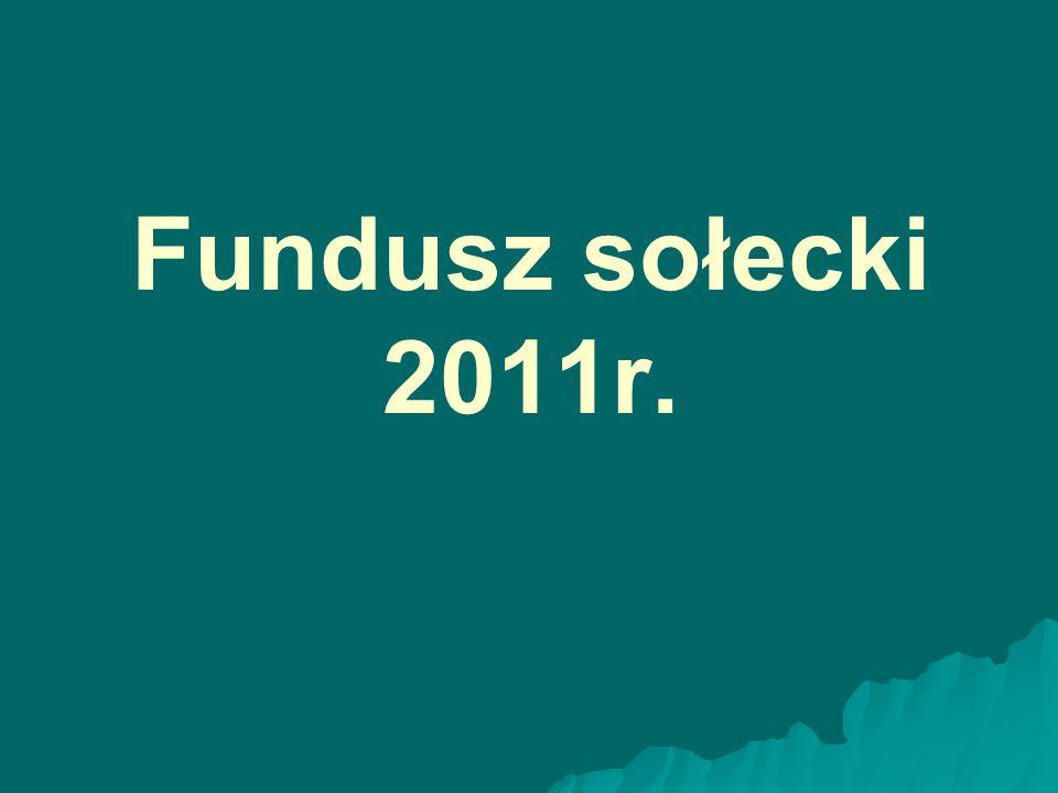 Fundusz sołecki 2011r.