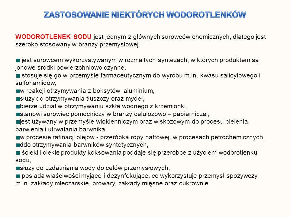 WODOROTLENEK SODU jest jednym z głównych surowców chemicznych, dlatego jest szeroko stosowany w branży przemysłowej.