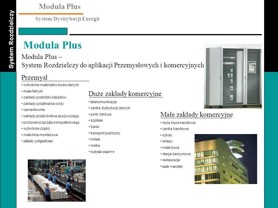System Rozdzielczy Modula Plus System Dystrybucji Energii Modula Plus Rama montażowa (funkcjonalna) zestawów Zawiera dwa profile funkcjonalne, dwie poziome części od góry i dół oraz elementy mocujące Dwie wersje : - dla zestawów szer.