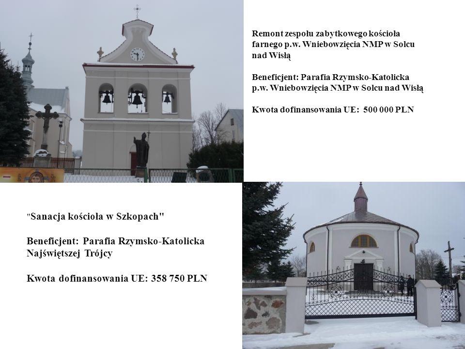 18 Beneficjent: Gmina Jednorożec Zagospodarowanie centrum Ulatowo-Pogorzeli dla rozwoju kultury, sportu i turystyki Wartość całkowita projektu – 440 187 PLN Kwota pomocy UE – 233 350 PLN