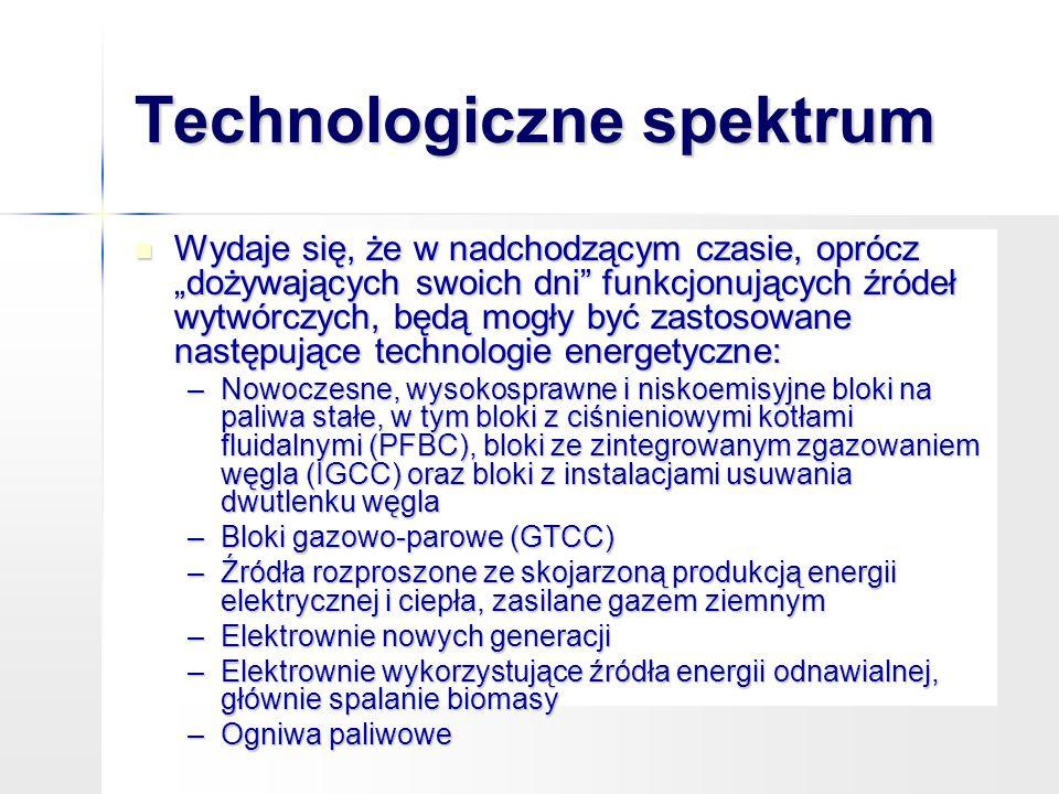 """Technologiczne spektrum Wydaje się, że w nadchodzącym czasie, oprócz """"dożywających swoich dni"""" funkcjonujących źródeł wytwórczych, będą mogły być zast"""