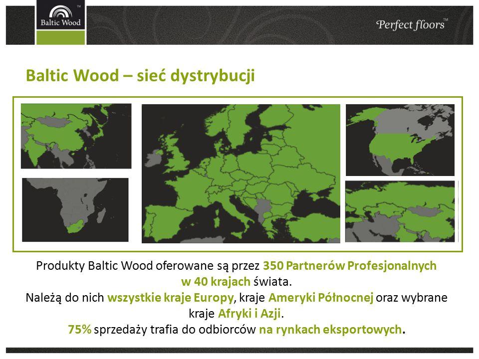 Baltic Wood – sieć dystrybucji Produkty Baltic Wood oferowane są przez 350 Partnerów Profesjonalnych w 40 krajach świata.
