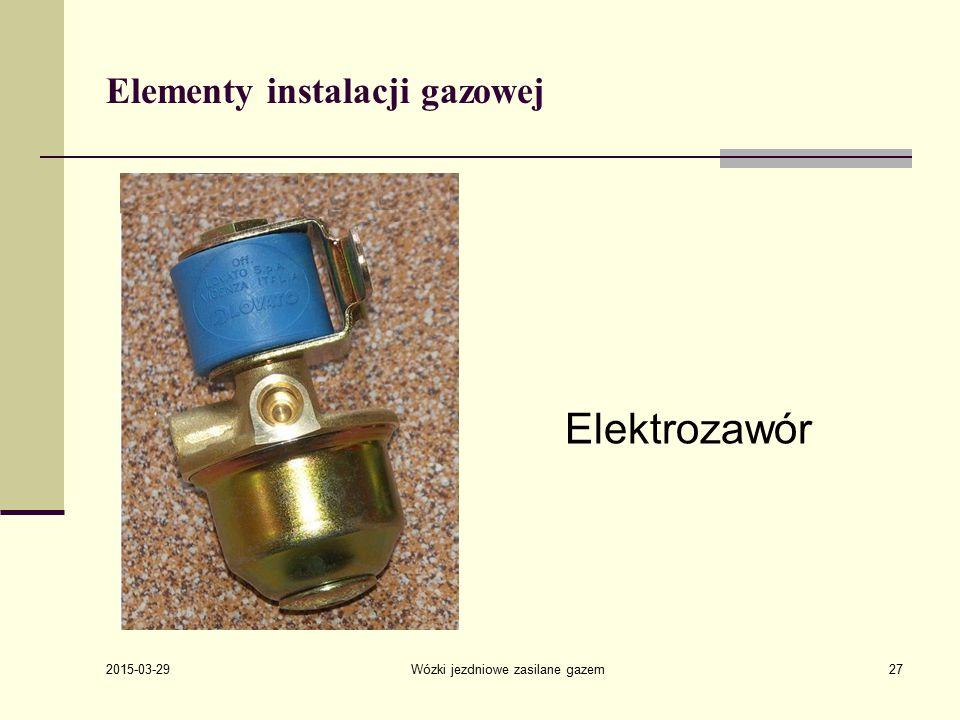 2015-03-29 Wózki jezdniowe zasilane gazem27 Elementy instalacji gazowej Elektrozawór