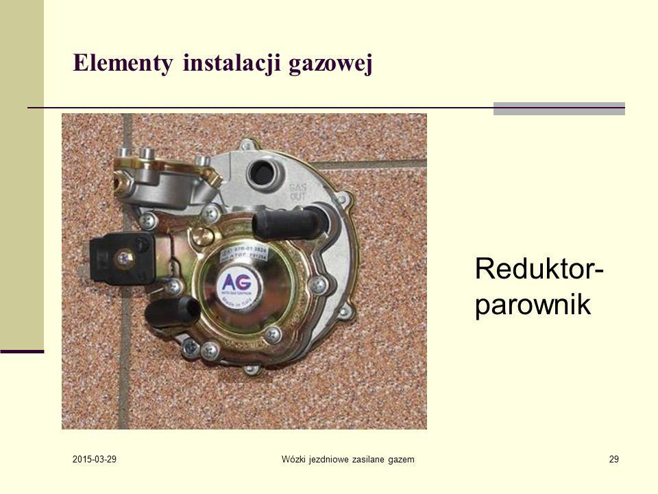 2015-03-29 Wózki jezdniowe zasilane gazem29 Elementy instalacji gazowej Reduktor- parownik