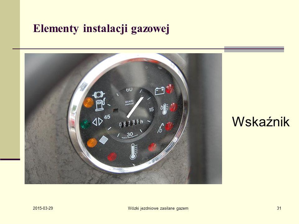 2015-03-29 Wózki jezdniowe zasilane gazem31 Elementy instalacji gazowej Wskaźnik