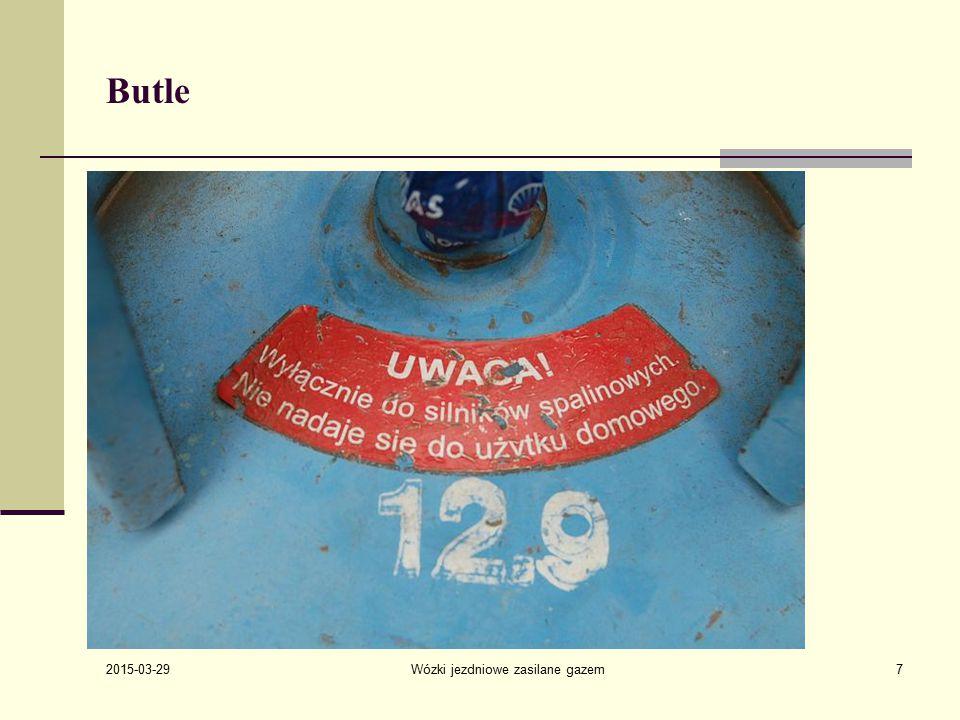 2015-03-29 Wózki jezdniowe zasilane gazem18 Zawory Zawory butli przeznaczonych do zasilania silników w wózkach jezdniowych wyposażone są w rurkę do poboru gazu w fazie ciekłej Zawory są chronione przed uszkodzeniem kołnierzem przyspawanym do butli.