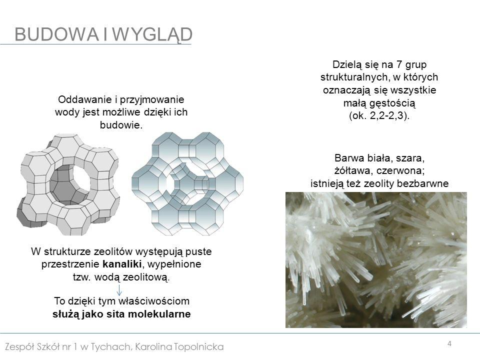 Są nośnikami katalizatorów w przemyśle petrochemicznym Stosowane są do osuszania i oczyszczania gazów.