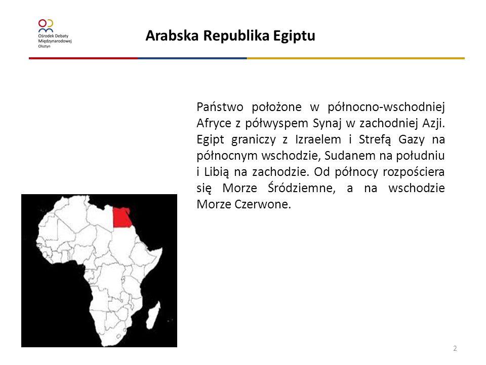 Ustaleni/zatrzymani za nielegalny pobyt Arabska Republika Egiptu terytorium RP Państwo położone w północno-wschodniej Afryce z półwyspem Synaj w zacho