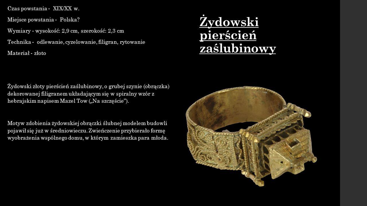 Opasek podhalański Czas powstania - XIX w.Wymiary - wysokość: opasek: 17 cm; klamra: max.