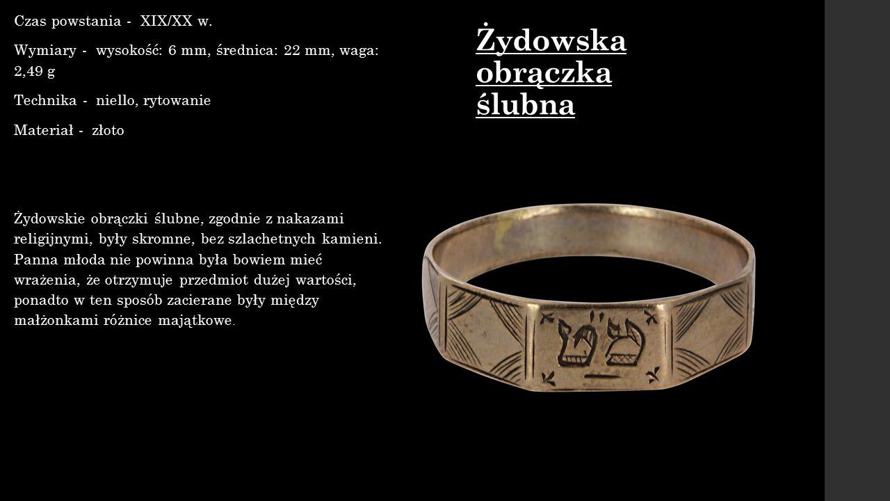 Spinka do koszul i Czas powstania - koniec XIX w.