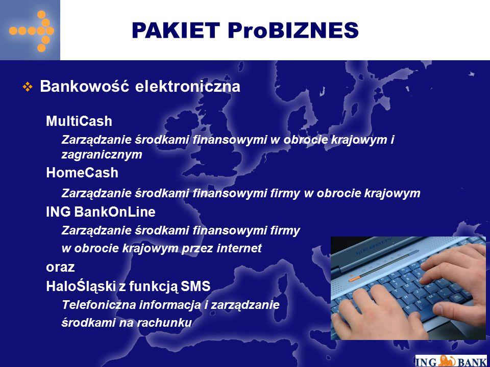  Bankowość elektroniczna MultiCash Zarządzanie środkami finansowymi w obrocie krajowym i zagranicznym HomeCash Zarządzanie środkami finansowymi firmy