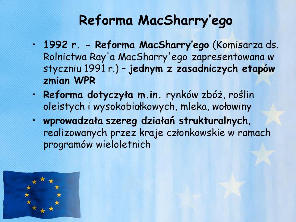 Reforma MacSharry'ego 1992 r. - Reforma MacSharry'ego (Komisarza ds. Rolnictwa Ray'a MacSharry'ego zapresentowana w styczniu 1991 r.) – jednym z zasad