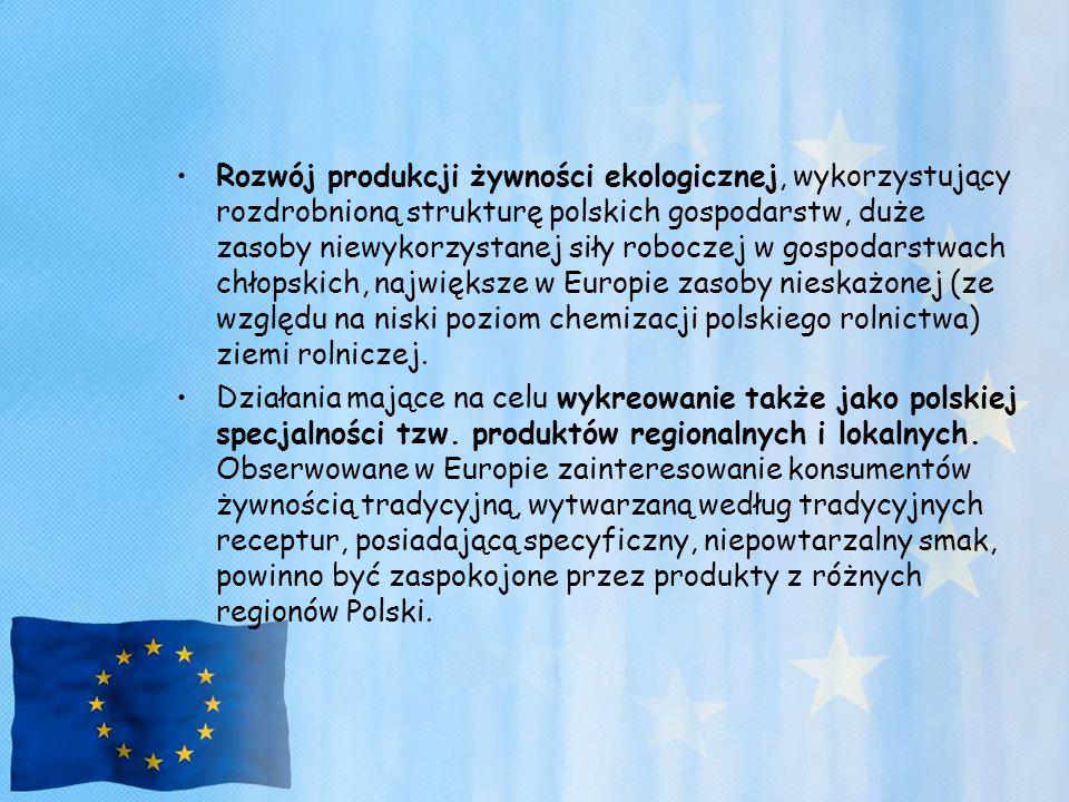 Rozwój produkcji żywności ekologicznej, wykorzystujący rozdrobnioną strukturę polskich gospodarstw, duże zasoby niewykorzystanej siły roboczej w gospo