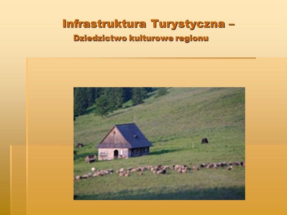 Infrastruktura Turystyczna – Dziedzictwo kulturowe regionu Infrastruktura Turystyczna – Dziedzictwo kulturowe regionu