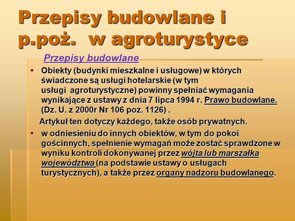 Przepisy budowlane i p.poż.