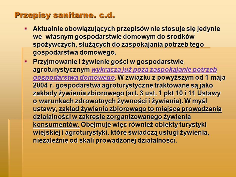Przepisy sanitarne.c.d.