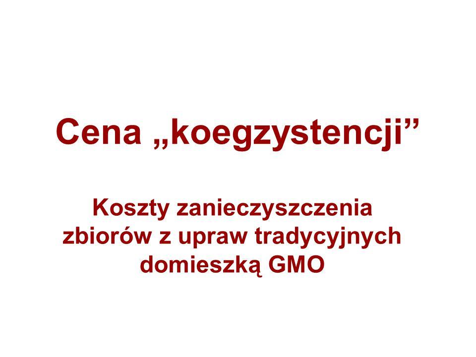 """Cena """"koegzystencji"""" Koszty zanieczyszczenia zbiorów z upraw tradycyjnych domieszką GMO"""