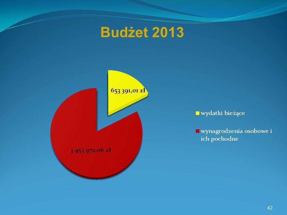 42 Budżet 2013