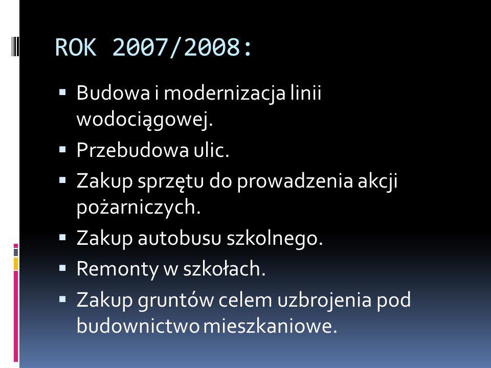 Kolejne działania samorządu gminy:  Telefonizacja okolicznych wsi w latach 90., przy udziale środków z budżetu gminy. Realizowanie inwestycji polegaj