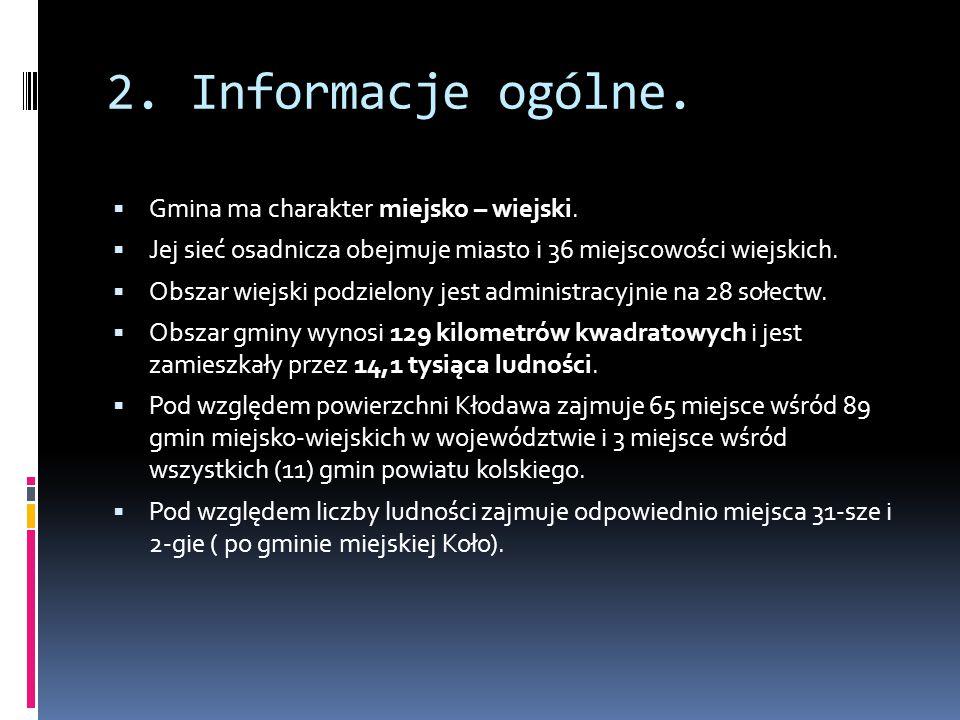  Gmina Kłodawa zaliczona jest do powiatu kolskiego, wchodzącego w skład województwa wielkopolskiego.  Gmina położona jest we wschodniej części powia