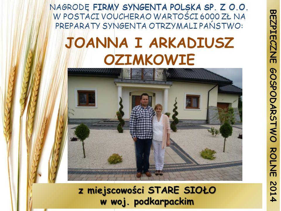 NAGRODĘ FIRMY SYNGENTA POLSKA SP.Z O.O.