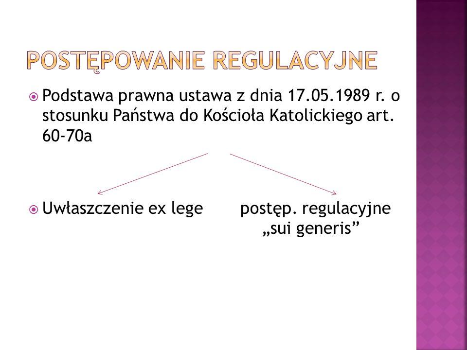  Podstawa prawna ustawa z dnia 17.05.1989 r. o stosunku Państwa do Kościoła Katolickiego art.