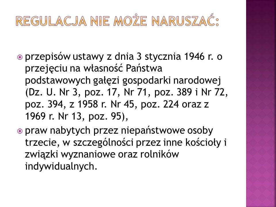  przepisów ustawy z dnia 3 stycznia 1946 r.