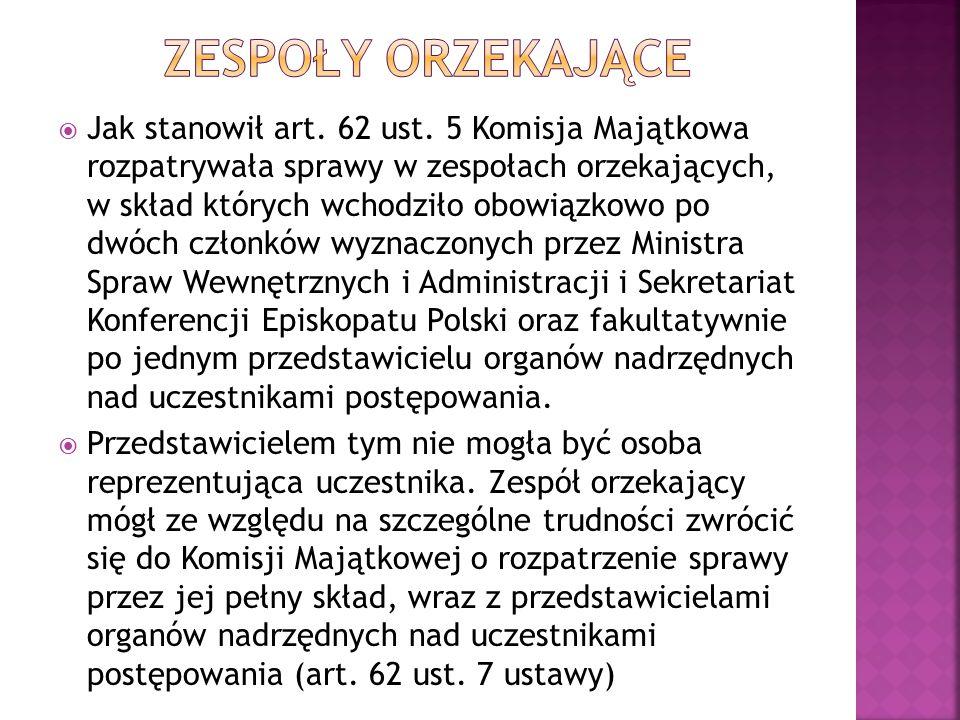  uczestnicy postępowań regulacyjnych, w których zespół orzekający lub Komisja Majątkowa w jej pełnym składzie nie uzgodniły orzeczenia przed dniem wejścia w życie ustawy z dnia 16 grudnia 2010 r., mogą, w terminie 6 miesięcy od dnia otrzymania o tym pisemnego zawiadomienia, o którym mowa w art.