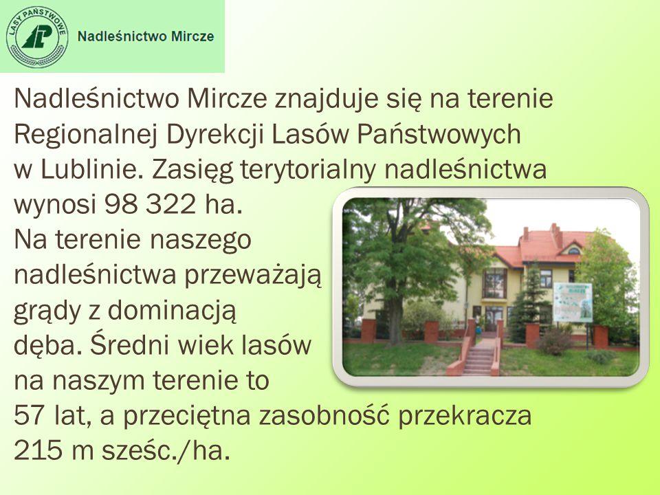 Nadleśnictwo Mircze znajduje się na terenie Regionalnej Dyrekcji Lasów Państwowych w Lublinie. Zasięg terytorialny nadleśnictwa wynosi 98 322 ha. Na t