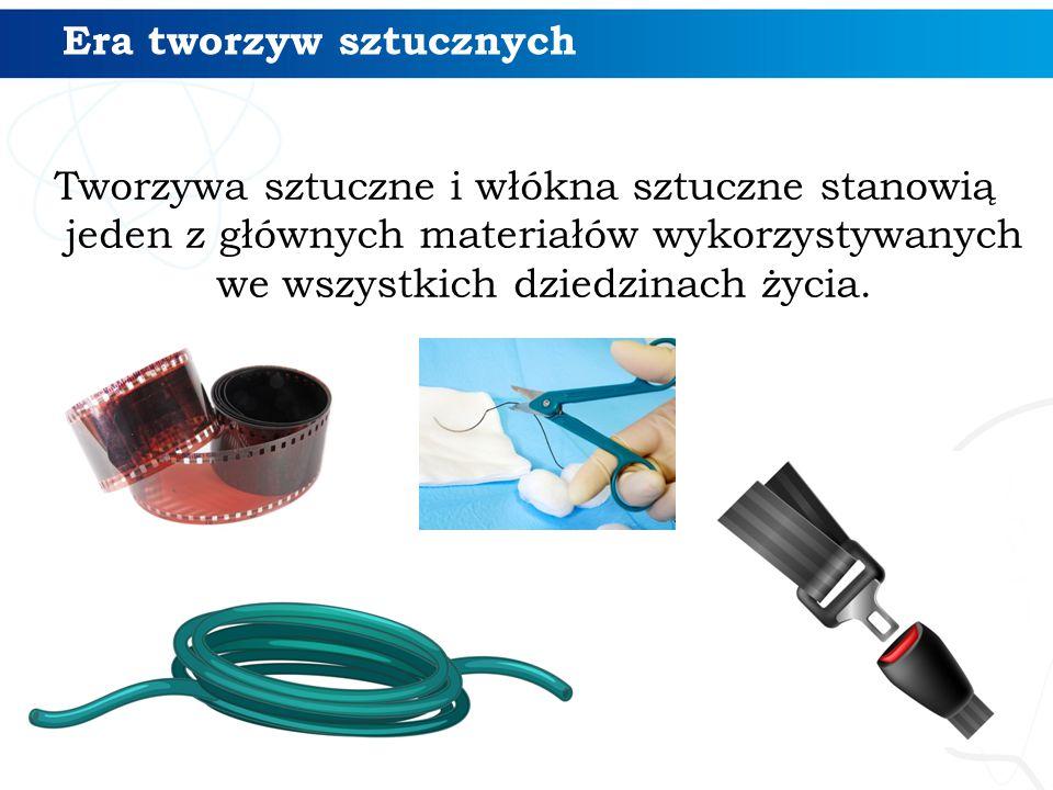 Właściwości i zastosowanie polimerów Nazwa polimeruNazwa i wzór monomeru Właściwości polimeru Przykładowe zastosowania polietylen eten (etylen) H 2 C=CH 2 duża odporność na działanie stężonych kwasów i zasad, mała wytrzymałość cieplna, palny skrzynki na butelki i produkty spożywcze, zabawki, pojemniki na chemikalia, folie opakowaniowe polipropylen propen (propylen) H 2 C=CHCH 3 właściwości podobne do polietylenu, większa odporność cieplna i mechaniczna sznury, włókna na dywany, worki do pakowania płodów rolnych