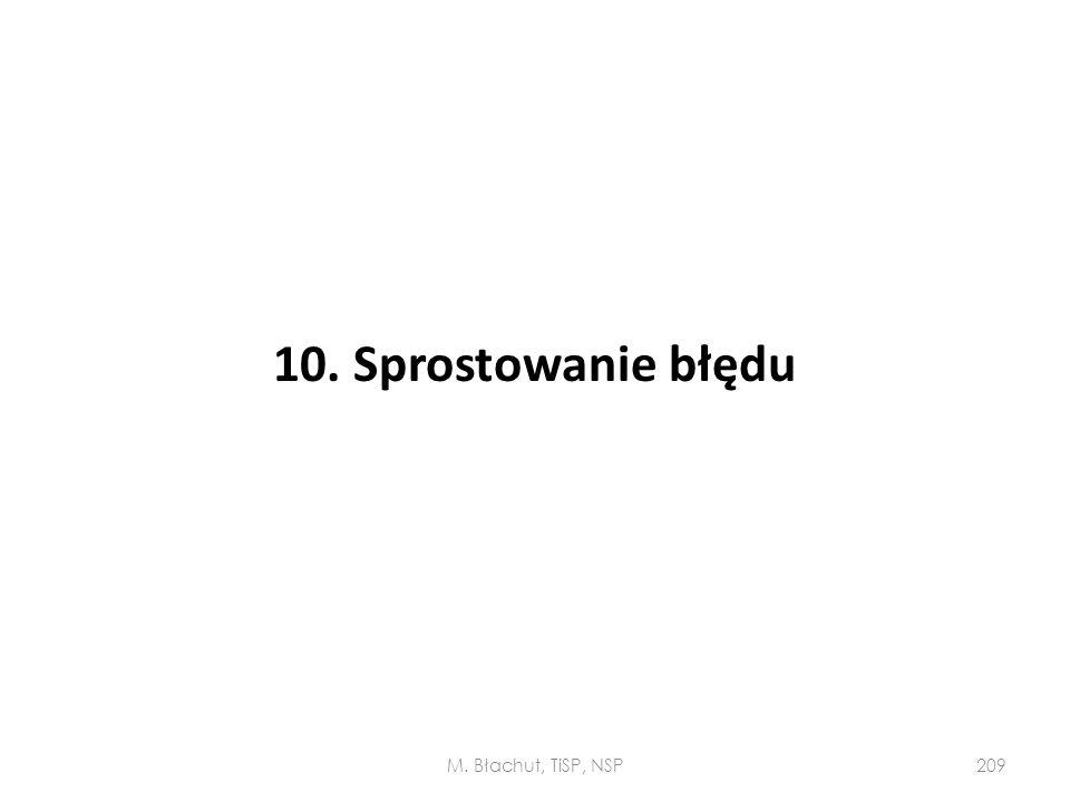 10. Sprostowanie błędu M. Błachut, TiSP, NSP209
