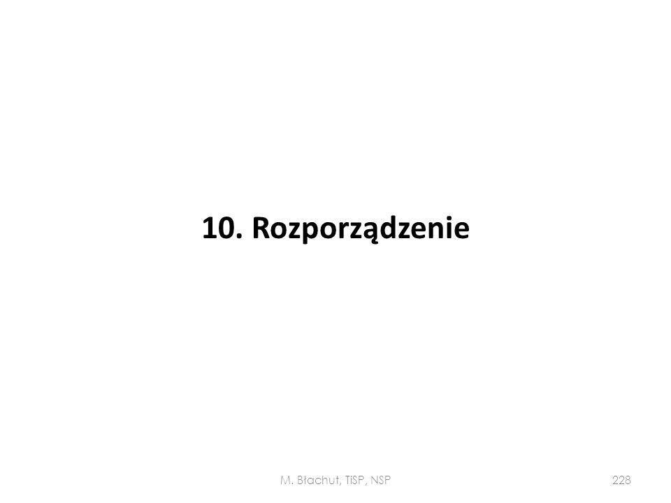 10. Rozporządzenie M. Błachut, TiSP, NSP228