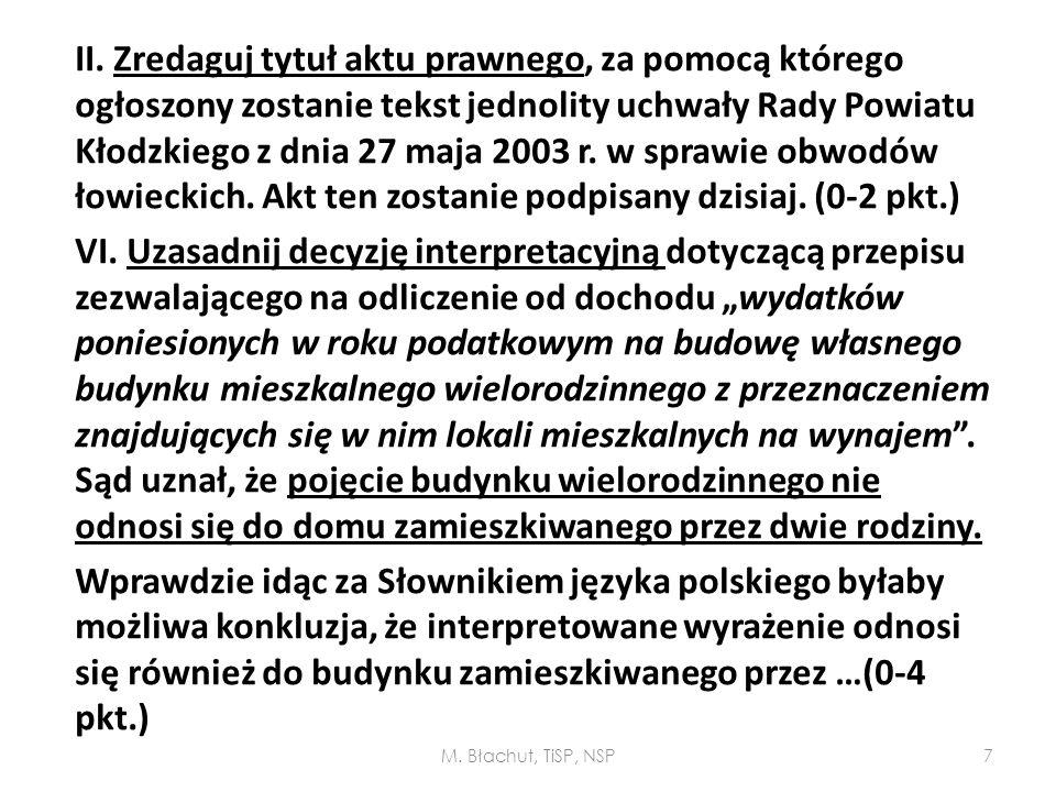 II. Zredaguj tytuł aktu prawnego, za pomocą którego ogłoszony zostanie tekst jednolity uchwały Rady Powiatu Kłodzkiego z dnia 27 maja 2003 r. w sprawi