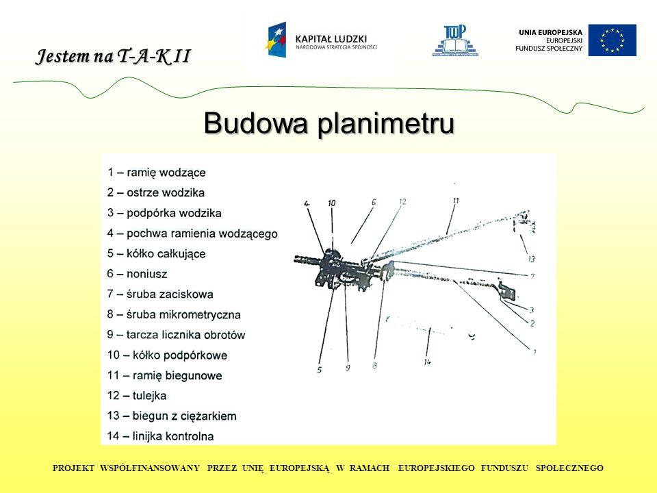 Jestem na T-A-K II PROJEKT WSPÓŁFINANSOWANY PRZEZ UNIĘ EUROPEJSKĄ W RAMACH EUROPEJSKIEGO FUNDUSZU SPOŁECZNEGO Budowa planimetru