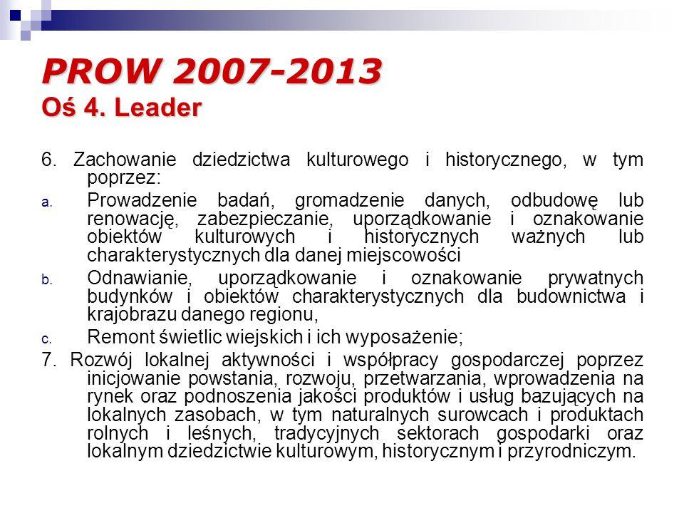 PROW 2007-2013 Oś 4. Leader 6.