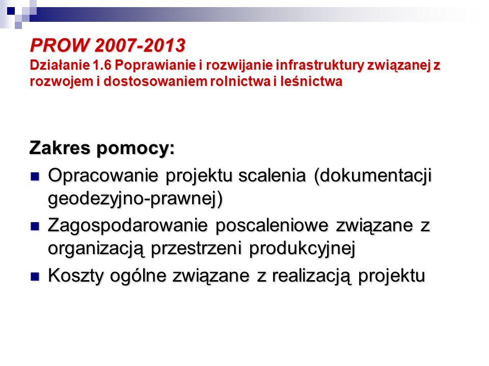 PROW 2007-2013 Oś 4.Leader Działania dla małych projektów mogą dotyczyć: 3.
