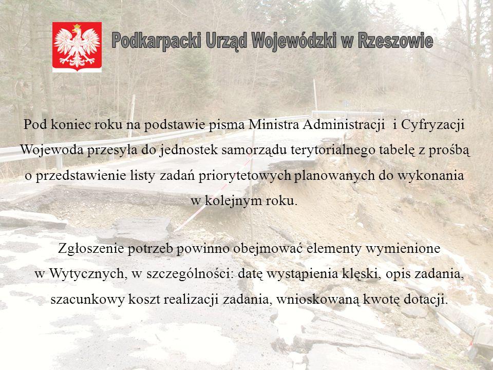 Członkowie Komisji Wojewódzkiej po otrzymaniu kompletu dokumentacji sprawdzają pod względem formalnym otrzymane dokumenty, następnie dokonują weryfikacji w terenie strat przedstawionych w protokole.