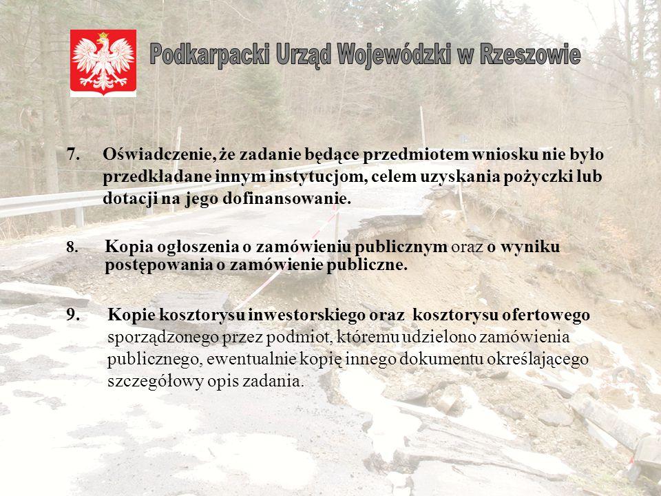 5.Kopie protokołów sporządzonych przez komisję wojewódzką do spraw weryfikacji strat. Finansowanie zakresu prac budowlanych mającego odzwierciedlenie