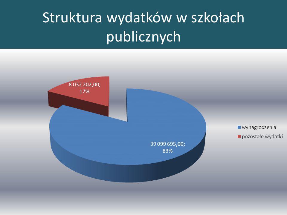 Struktura wydatków w szkołach publicznych