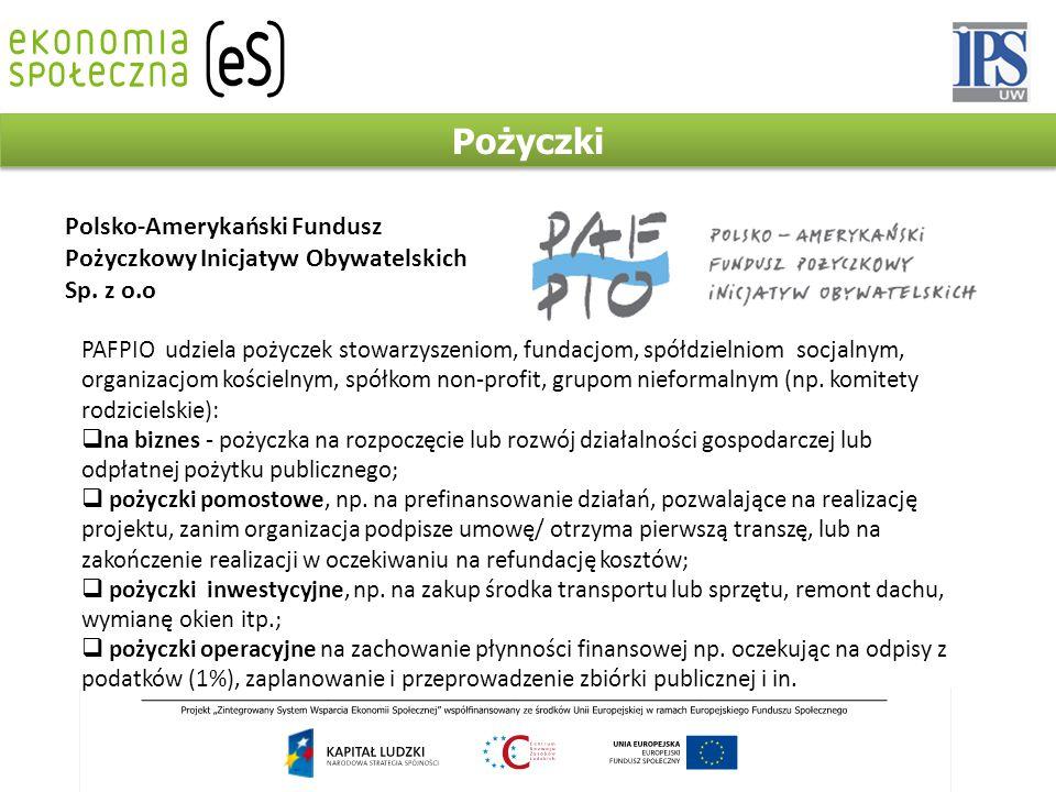 Pożyczki Polsko-Amerykański Fundusz Pożyczkowy Inicjatyw Obywatelskich Sp.